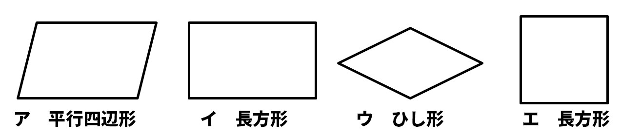 いろいろな四角形問題