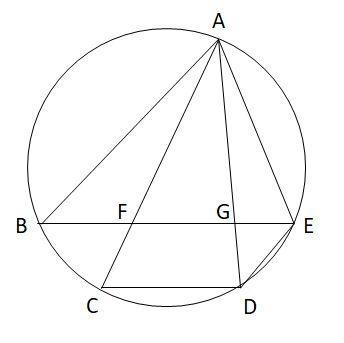 共通する弧の円周角と相似1