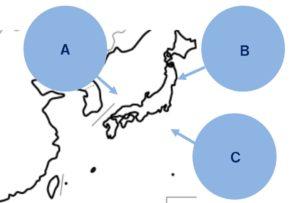 日本の気団の図