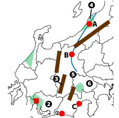 中部地方問題地図
