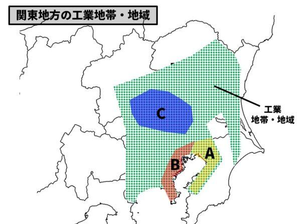 関東地方の工業分布